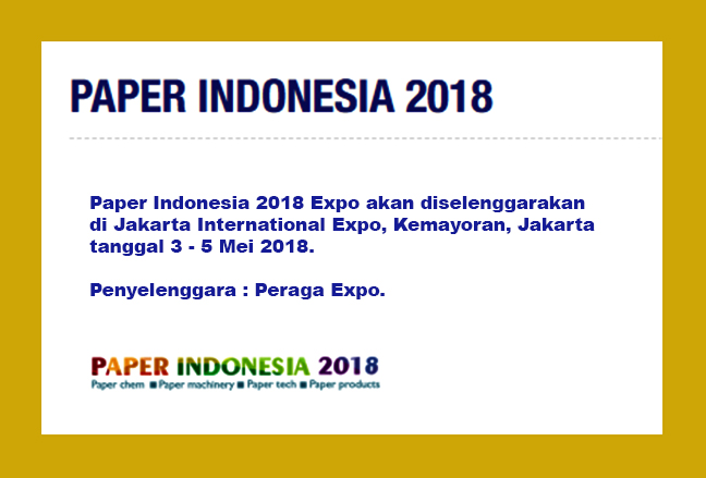 PAPER INDONESIA EXPO 2018